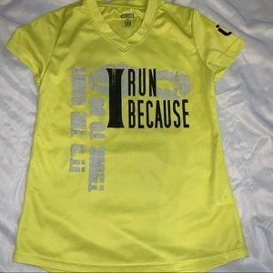 Womans XS Running shirt neon yellow